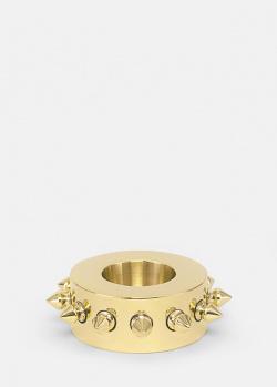 Золотистый подсвечник Skultuna Spike с декором-шипами, фото