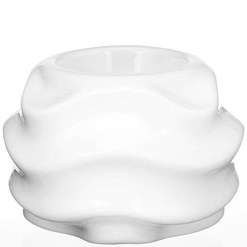 Белый подсвечник Eterna Волна глянцевый керамический, фото