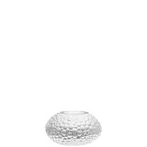 Белый подсвечник Eterna Этна керамический фактурный глянцевый, фото