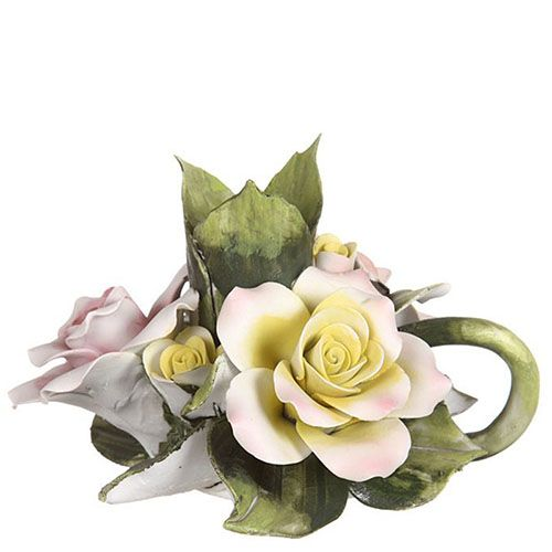 Подсвечник Розы из фарфора, фото