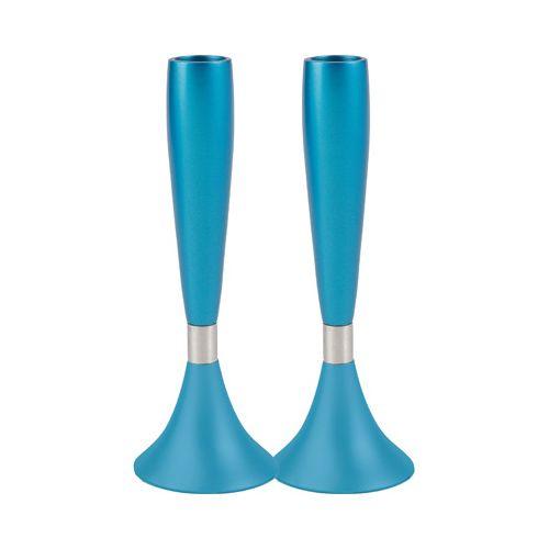 Пара подсвечников Emanuel перламутрово-голубого цвета, фото
