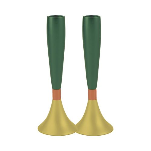 Пара подсвечников Emanuel золотисто-зеленые, фото