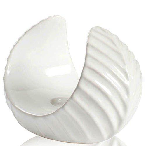 Белый подсвечник Eterna глянцевый керамический малый 13 см, фото