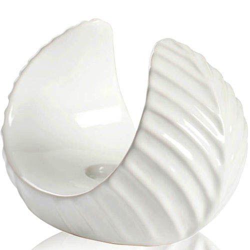 Белый подсвечник Eterna глянцевый керамический 23 см, фото