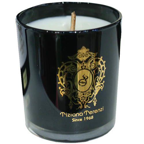 Свеча Terenzi Evelino ДАМА небольшого размера черная с миндально ванильным ароматом, фото