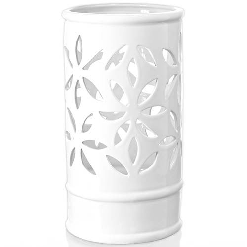Белый подсвечник Eterna Ажур глянцевый керамический, фото