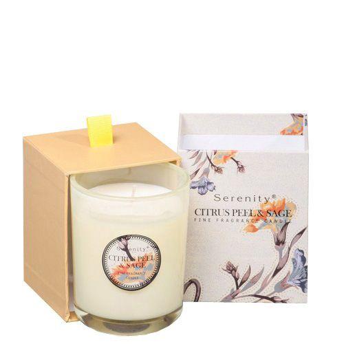 Ароматическая свеча Serenity Цитрус и шалфей в подарочной коробке, фото