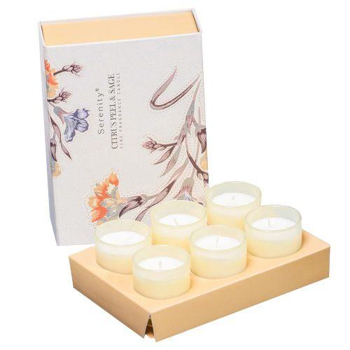 Набор из 6 аромасвечей Serenity Цитрус и шалфей в подарочной коробке, фото