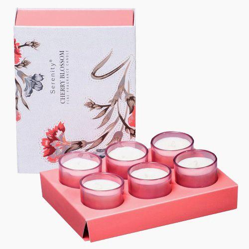 Набор из 6 аромасвечей Serenity Цветущая вишня в подарочной коробке, фото