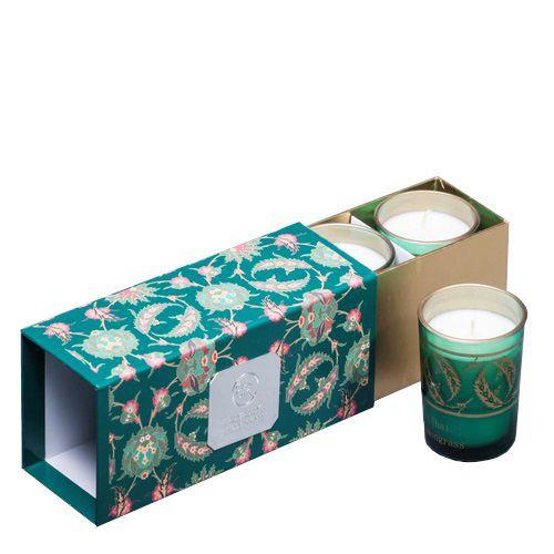 Набор из 3 аромасвечей Serenity Тайский лемонграсс в подарочной коробке, фото