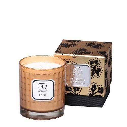 Ароматическая свеча Serenity Jade Gold в подарочной коробке, фото