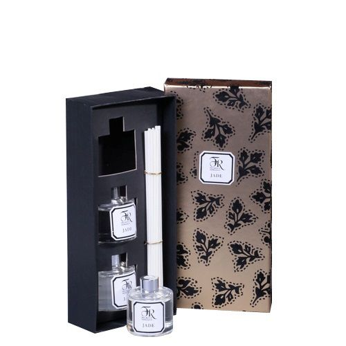 Набор из 3 аромадиффузоров Serenity Jade Gold в подарочной коробке, фото