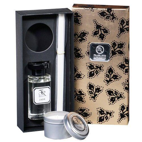Аромадиффузор со свечой Serenity Jade Gold 100 мл в подарочной коробке, фото