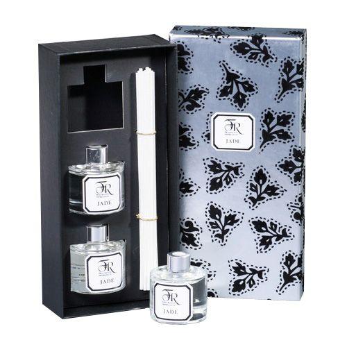 Набор из 3 аромадиффузоров Serenity Jade Silver в подарочной коробке, фото