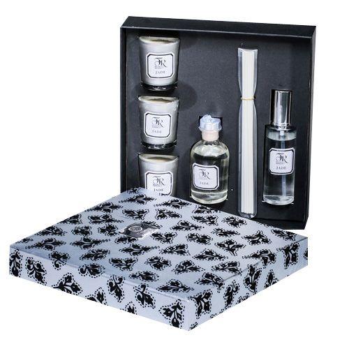 Подарочный набор аромадиффузоров Serenity и свечей Jade Silver премиум, фото