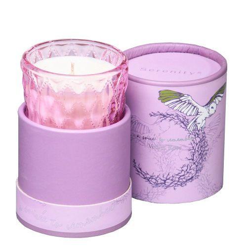 Ароматическая свеча Serenity Бархатная роза в подарочной коробке, фото