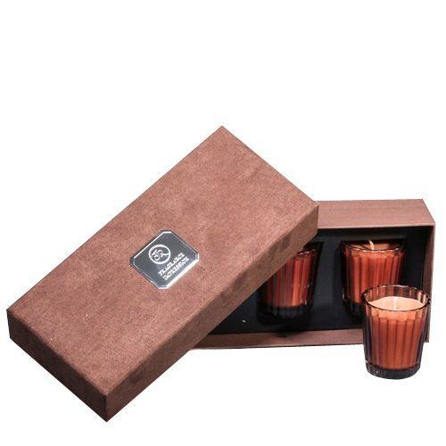 Набор из 3 аромасвечей Serenity Горячий белый шоколад в подарочной коробке, фото