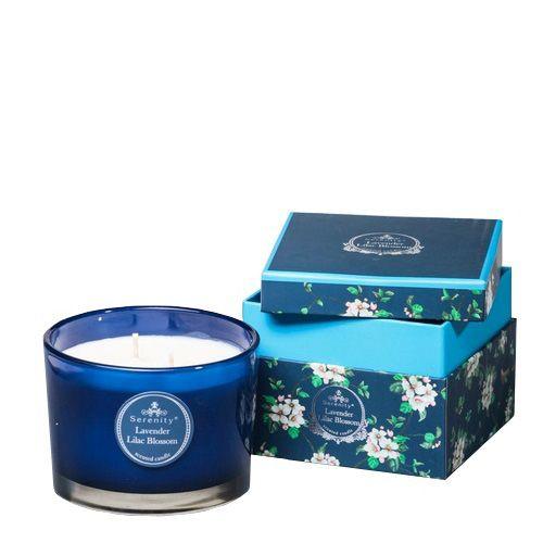 Ароматическая свеча Serenity Лаванда и сирень в подарочной коробке, фото