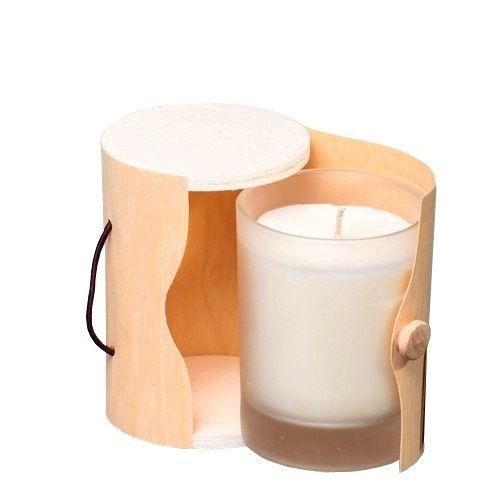 Ароматическая свеча Serenity Жасмин с ванилью в деревянной коробке, фото