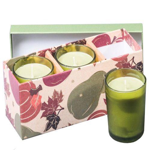 Набор из 3 аромасвечей Serenity Яблоко-груша в подарочной коробке, фото