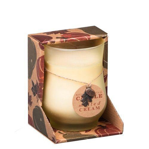Ароматическая свеча Serenity Сладкий крем в подарочной коробке, фото
