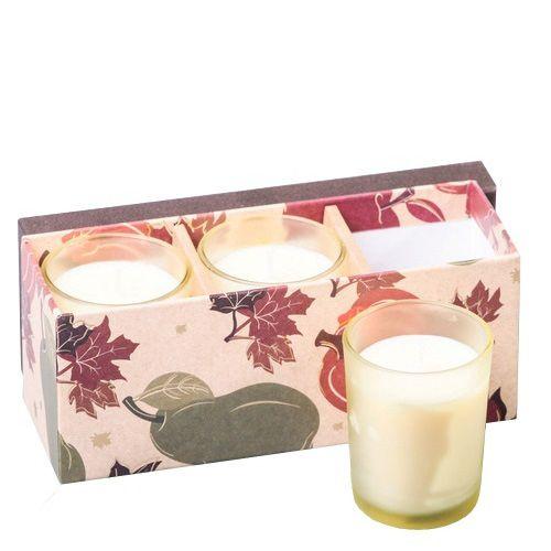 Набор Serenity из 3 аромасвечей Сладкий крем в подарочной коробке, фото