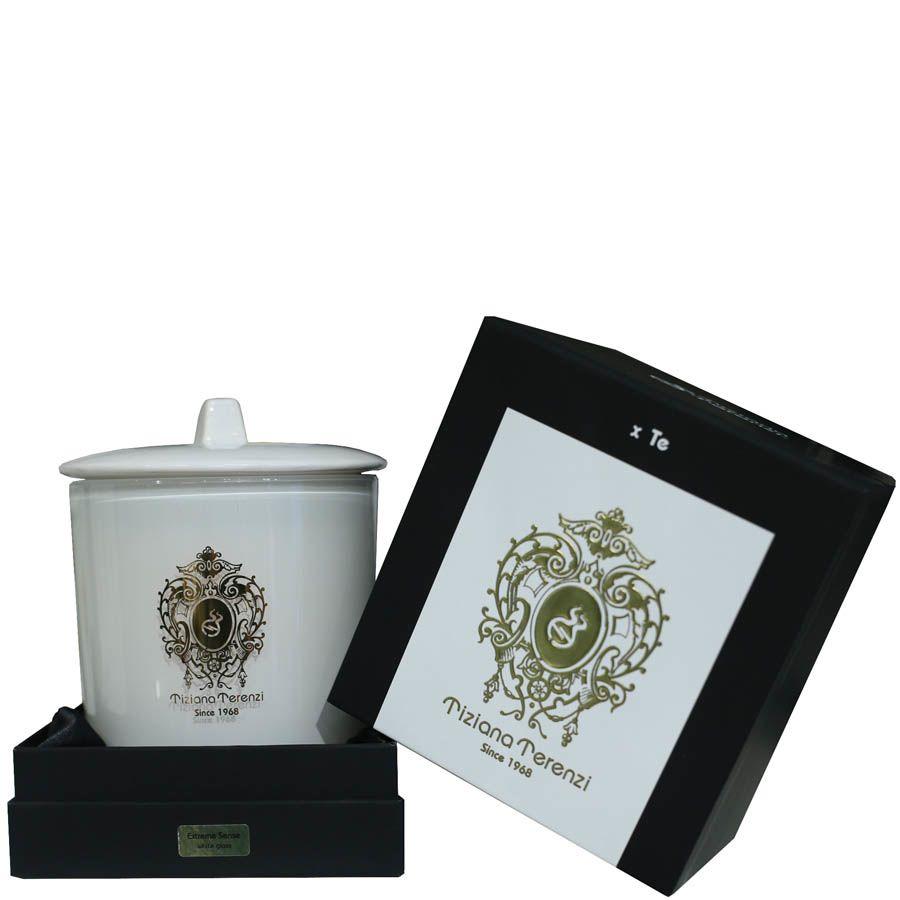 Белая свеча Terenzi Evelino КАМИНО с расслабляющим ванильным ароматом