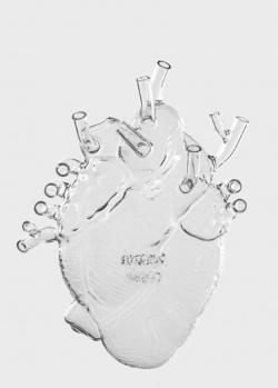 Ваза-сердце Seletti Love in Bloom из прозрачного стекла, фото