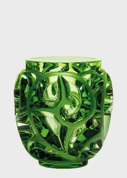 Зеленая хрустальная ваза Lalique Tourbillons Limited Edition 999, фото