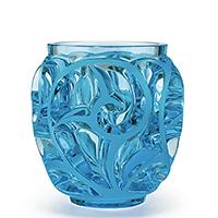 Ваза Lalique Tourbillons голубая, фото
