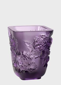 Ваза Lalique Pivoines из фиолетового хрусталя, фото
