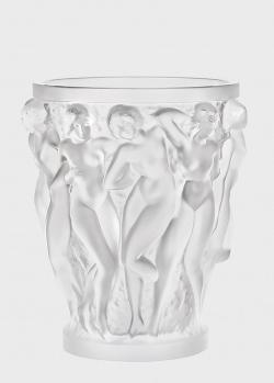 Ваза Lalique Bacchantes Вакханки из матового хрусталя, фото