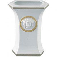 Настольная ваза Rosenthal Versace Gorgona из белого фарфора, фото