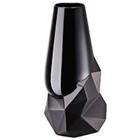 Черная ваза Rosenthal Geode из фарфора 27см, фото