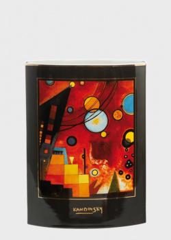 Ваза Goebel Artis Orbis Heavy Red Wassily 24см с узором, фото