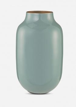 Металлическая ваза Pip Studio Blushing Birds Metal Oval Blue 30см, фото