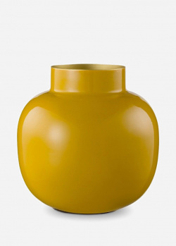 Желтая ваза Pip Studio Blushing Birds Metal Round Yellow 25см, фото
