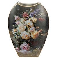 Ваза Goebel из фарфора с натюрмортом роз 30см, фото