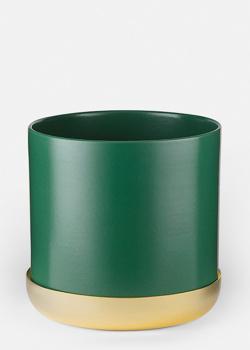 Кашпо из камня Skultuna Nurture зеленого цвета, фото