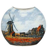 Ваза Goebel с рисунком макового поля из фарфора 30см, фото