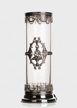 Хрустальная ваза Faberge Cilindric с посеребрением, фото