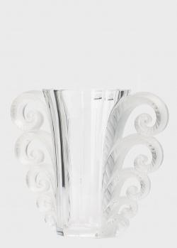 Ваза с завитками Lalique Beauvais из прозрачного хрусталя, фото