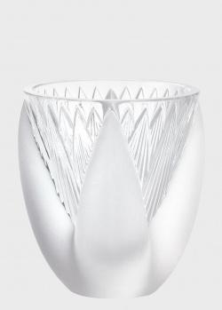 Хрустальная ваза Lalique Thebes со слоистыми гранями, фото