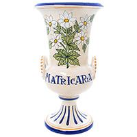Ваза L'Antica Deruta Ботаника Matricaria в виде кубка, фото