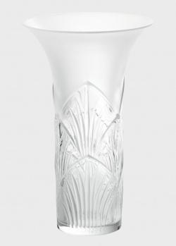 Ваза Lalique Lotus из матового хрусталя, фото