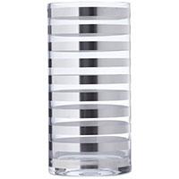 Ваза Egizia Tratto Silver 40см с зеркальными кольцами, фото