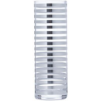 Ваза Egizia Tratto Silver 35см с серебристыми кольцами, фото