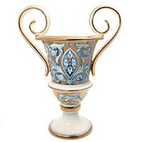 Большая ваза L'Antica Deruta Oro Antico на ножке, фото