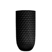 Ваза Ceramika Design Xago декорированная гексагональной сеткой черного цвета, фото