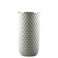 Ваза Ceramika Design Xago белого цвета с золотистым орнаментом, фото